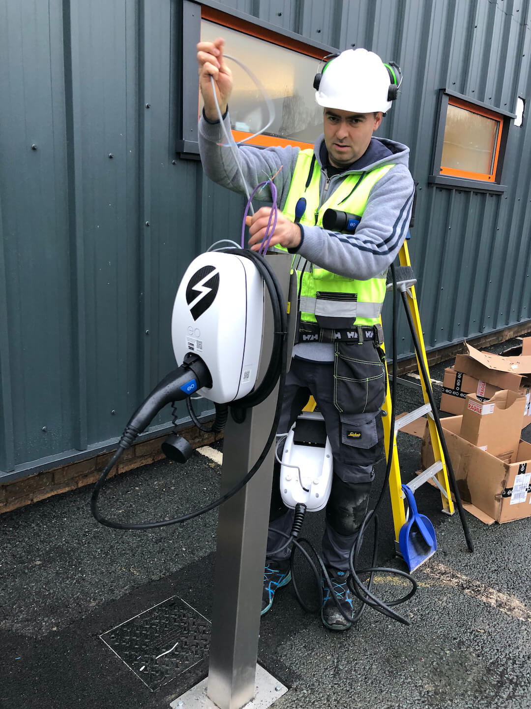 Ev Charger Installation For Thorite New Hq In Bradford 6