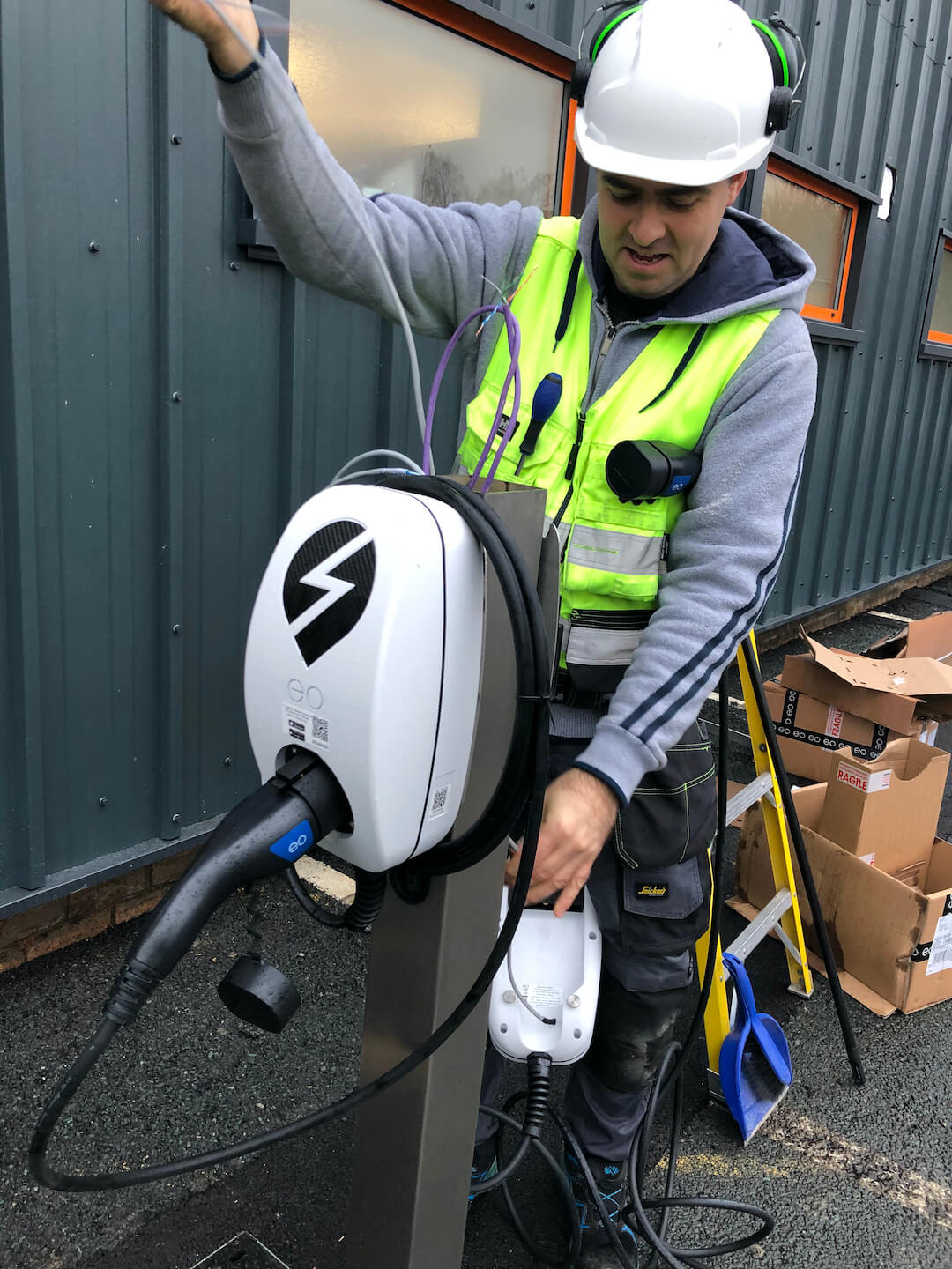 Ev Charger Installation For Thorite New Hq In Bradford 7