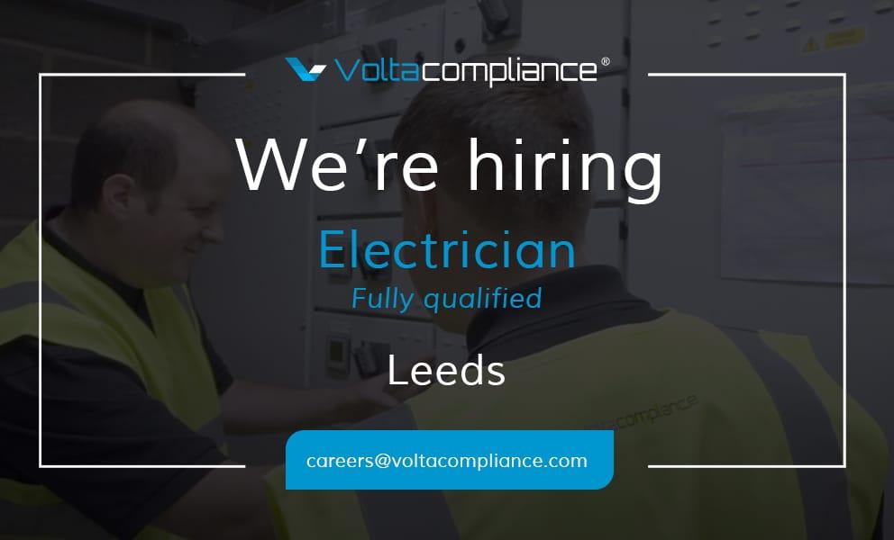volta compliance electrician job vacancy in leeds