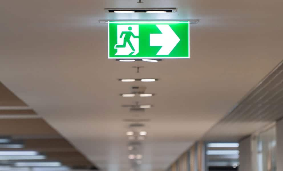 how long should emergency lights stay on?