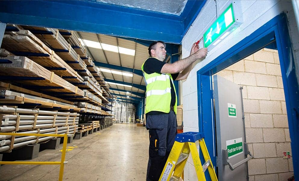 who can test emergency lighting?