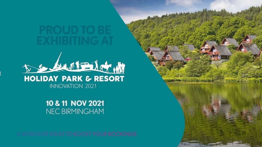 we're exhibiting at the holiday park & resort innovation show